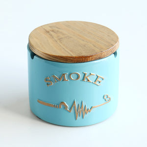 Letter Resin Ashtray With Lid