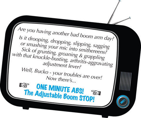 ABS - Adjustable boom arm - Is your boom arm sagging, drooping or slipping? Here is your answer.