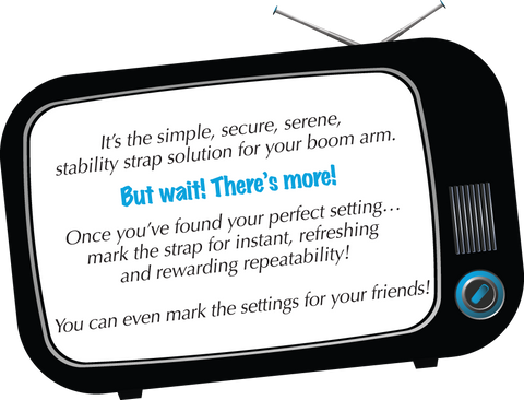 ABS - Adjustable Boom Arm - the simple, secure, stability strap solution for your boom arm