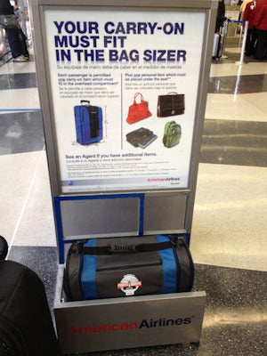 The porta-booth plus fits the bag sizer!