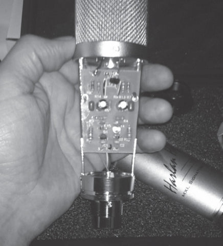 VO: 1-A Microphone inside electronics shown