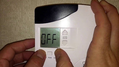 Travel tips - Turn thermostat off