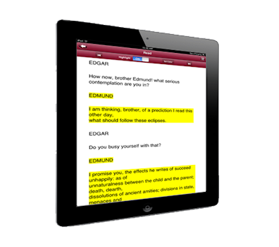 Travel tips - Read your script on a tablet