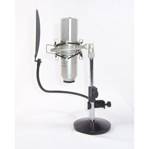 Harlan Hogan Adjustable Height Desktop Stand fits US and International Microphones