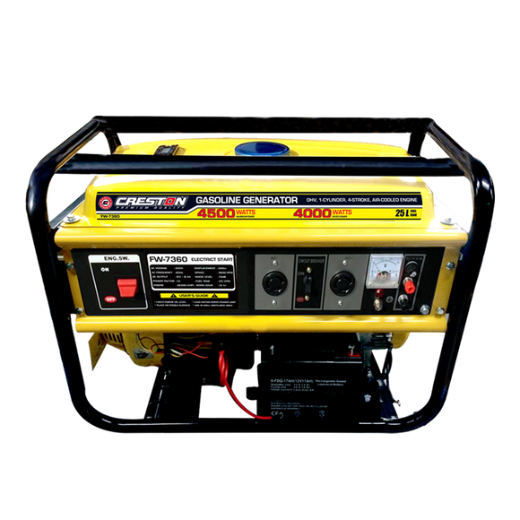 Electric-start gasoline generator