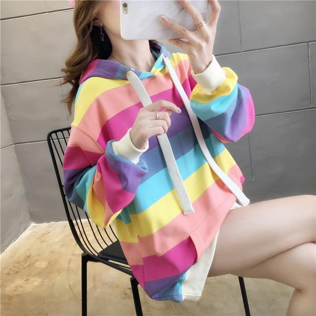 Sweatshirt Rainbow - Miss Glamour