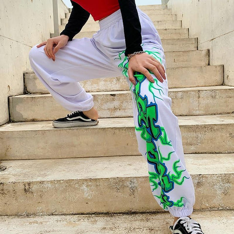 Casual Print Sweatpants