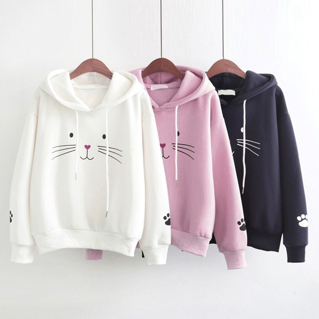 Hoodies Chat Harajuku - Miss Glamour