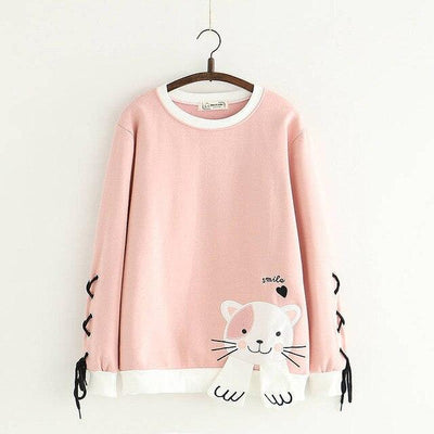 Sweatshirts Japan Smille cat - Miss Glamour