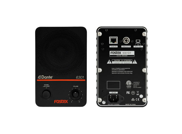 Fostex 6301DT:  Dante* for a new era in monitoring