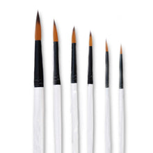 Load image into Gallery viewer, 6 Piece Artist Paint Brush Set (round)
