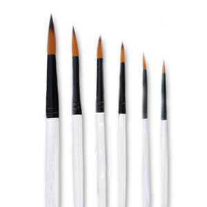 6 Piece Artist Paint Brush Set (round)