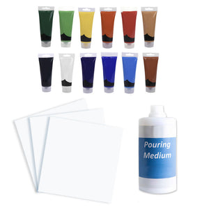 Fluid Acrylic Pouring Home Kit