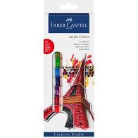 Faber-Castell Starter set Acrylic colours, wallet of 12, 12 x 12 ml tube