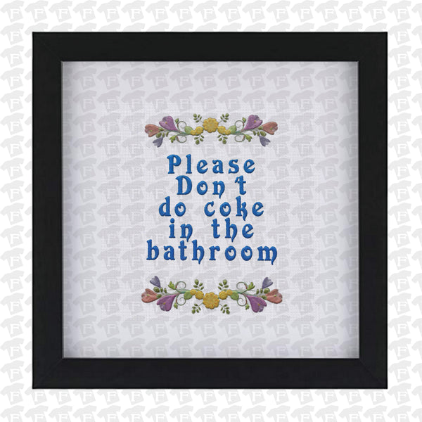 Bathroom, Humor, Funny, Stitch, Don't,