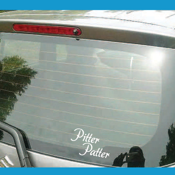Pitter Patter Decal
