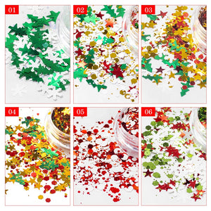 Christmas Glitter Set - 6 pack