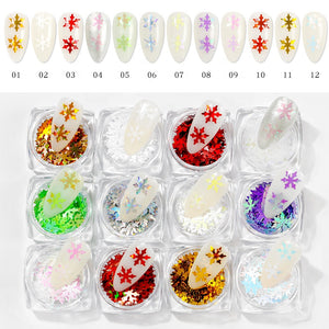 Snowflake Glitter - 12pc Case