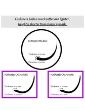 Load image into Gallery viewer, Forabelli Cashmere Eyelash Extensions - 16 Rows - C Curl  0.15mm