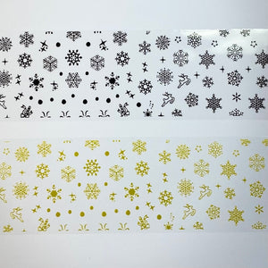 Christmas Snowflake Foil - 10 pack