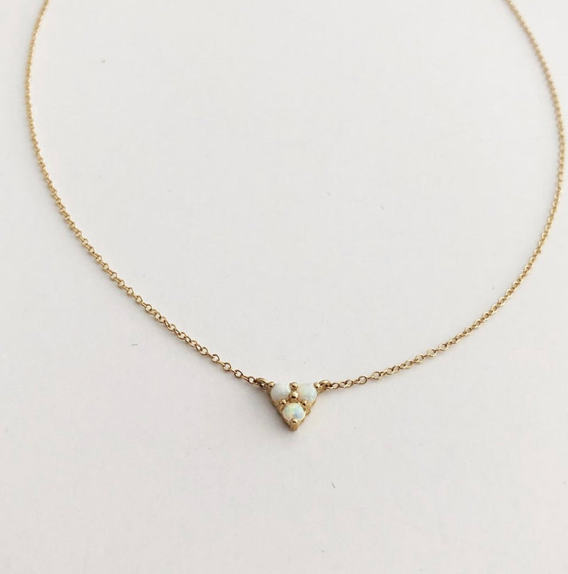 The Right Hand Gal-Opal Triangle Necklace