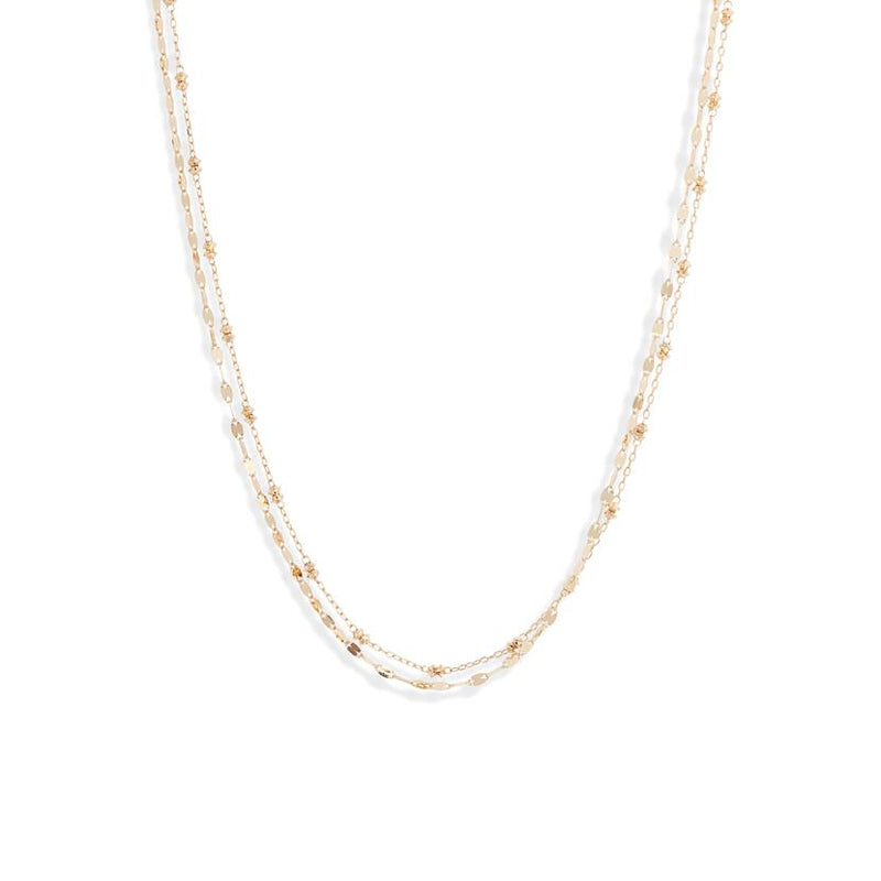 POPPY FINCH 18K Shimmer Beaded Duo Necklace