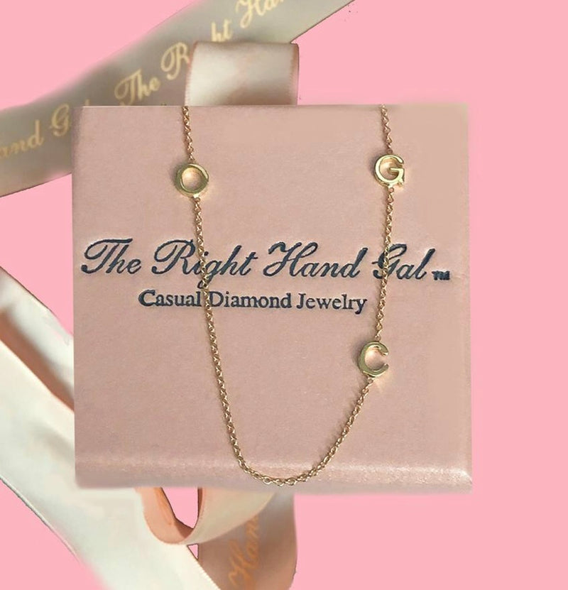 The Right Hand Gal Mini 3 Initial Necklace