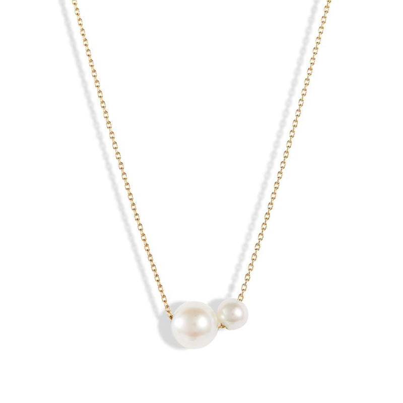 POPPY FINCH Double Pearl Necklace