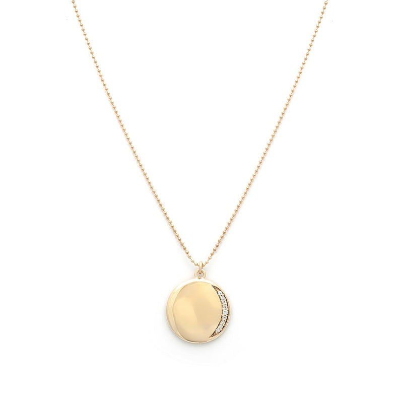 LEAH ALEXANDRA ECLIPSE NECKLACE | GOLD