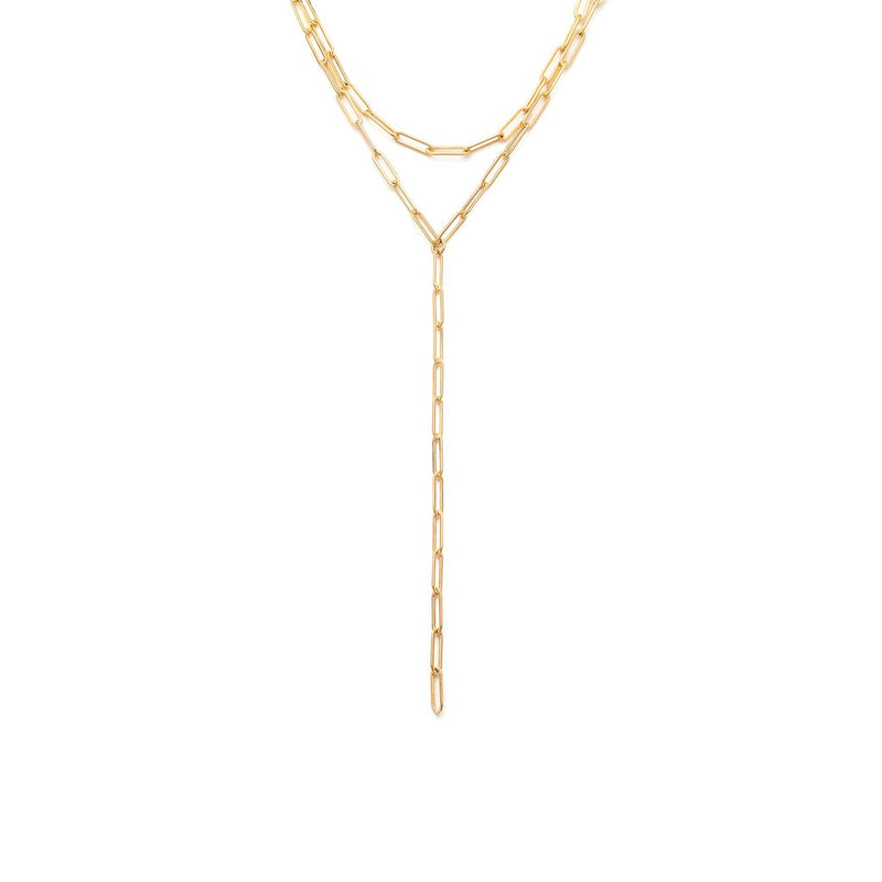 LEAH ALEXANDRA HAILEY LARIAT NECKLACE | GOLDFILL