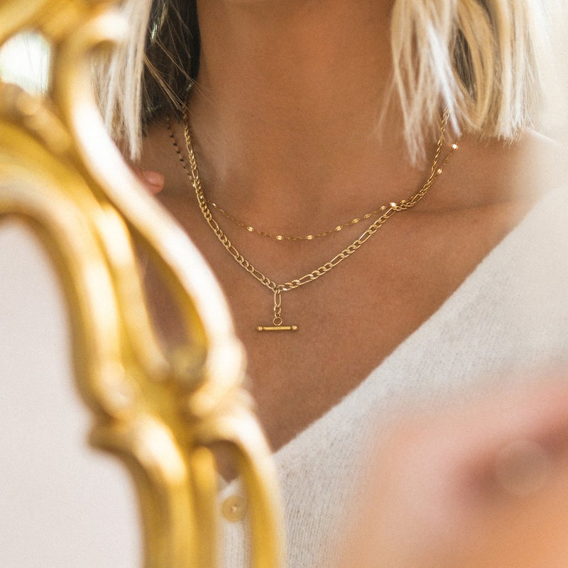 LEAH  ALEXANDRA SHIMMER NECKLACE | 10K GOLD