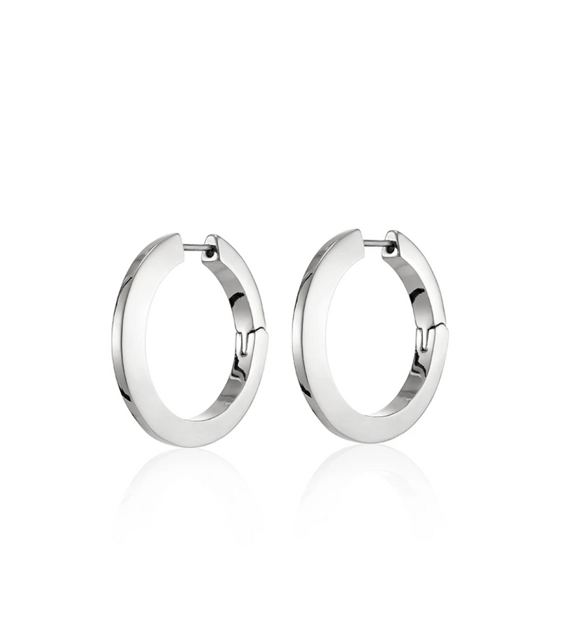 JENNY BIRD - Toni Hinged Hoop Earrings, Silver