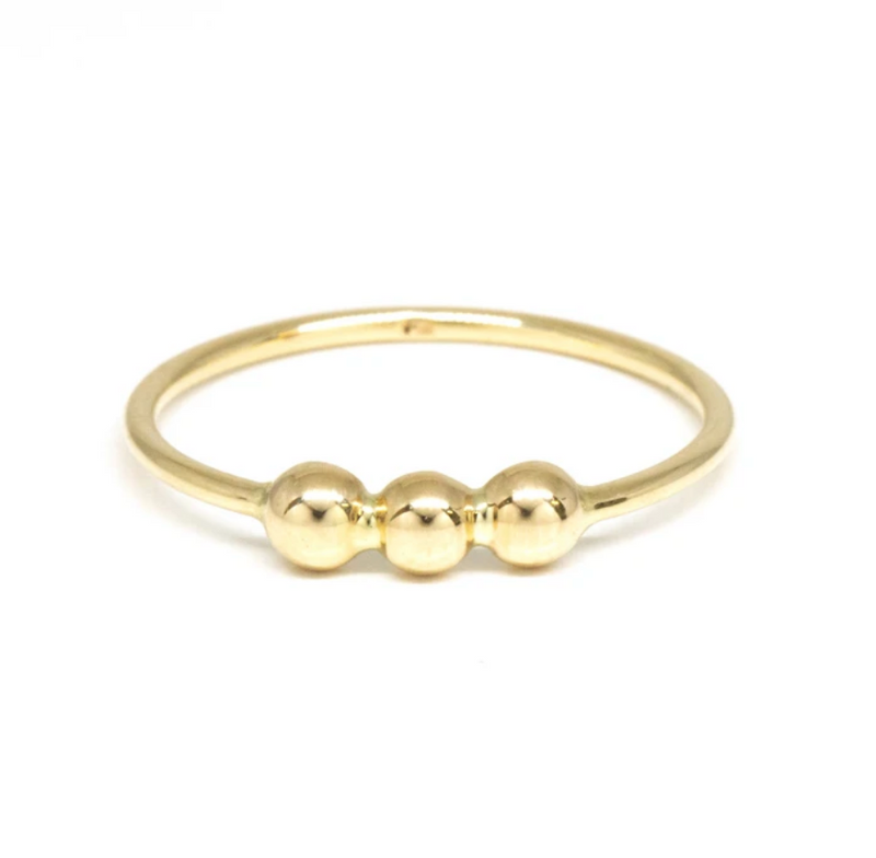 POPPY FINCH - Gold Bubble Ring