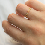 POPPY FINCH - 18K Flower Bead Ring