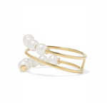 POPPY FINCH - Double Baby Pearl Spiral Ring