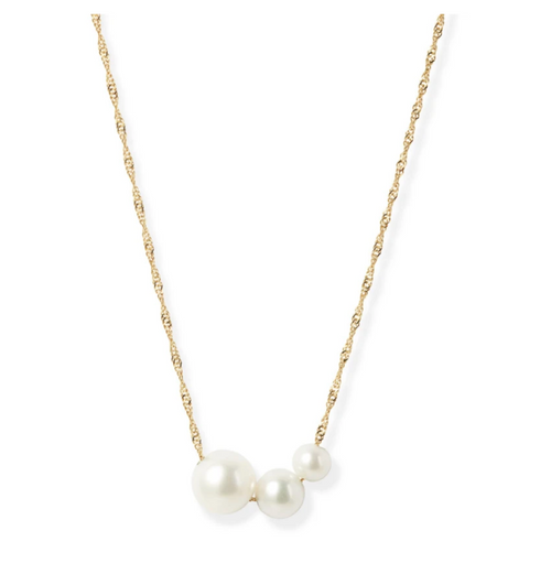 POPPY FINCH - Gradual Pearl Pendant Necklace