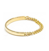 POPPY FINCH - Contrast Bead Chain Gold Band Ring