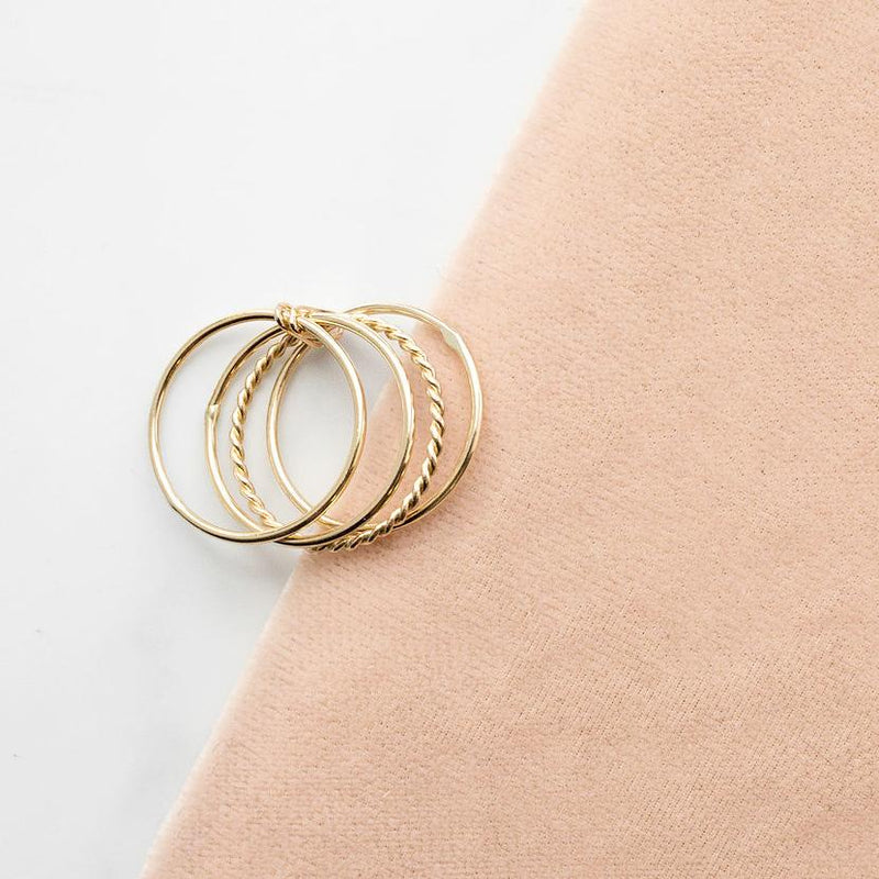POPPY FINCH Four Stacking Ring Set