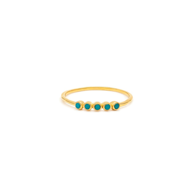 LEAH ALEXANDRA ELLIPSIS RING | TURQUOISE