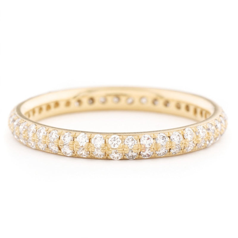 ANNE SPORTUN Two Row Pave Band
