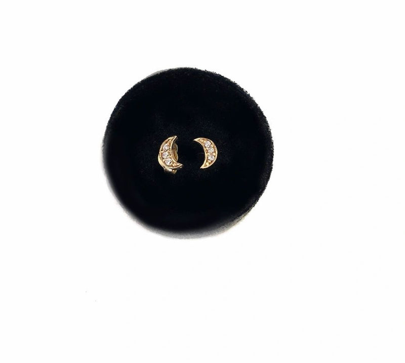 The Right Hand Gal-Moon Studs
