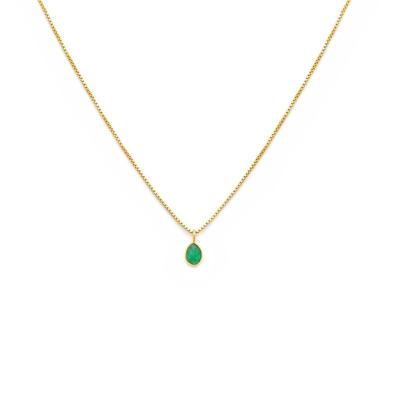 LEAH ALEXANDRA SOFIA SLICE NECKLACE | EMERALD