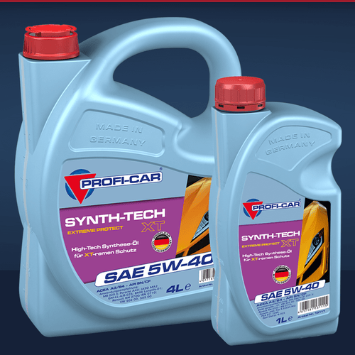 Produktbild PROFI-CAR SYNTH-TECH XT SAE 5W-40 Synthetisches Motorenöl 1 Liter und 4 Liter PROFI-CAR Online Shop