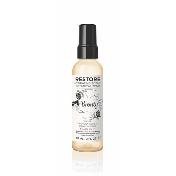 Bronty Beauty RESTORE Hydrating Active Botanical Tonic 2 oz Skincare - Toner & Facial Mist Bronty