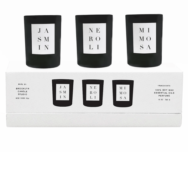 Brooklyn Candle Studio : NOIR VOTIVE SET : FLORA Fragrance - Candles & Home Scents Brooklyn Candle Studio