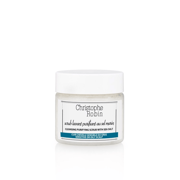 Christophe Robin Cleansing Purifying Scrub with Sea Salt, Travel size Haircare - Shampoo Christophe Robin