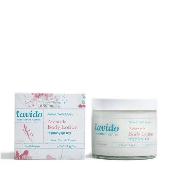 Lavido Aromatic Body Lotion: Patchouli, Vanilla & Jojoba Oil Bath & Body - Moisturizer Lavido