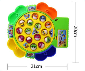 Electric music spinning fishing set baby puzzle toy wholesale boys and girls children fishing toys