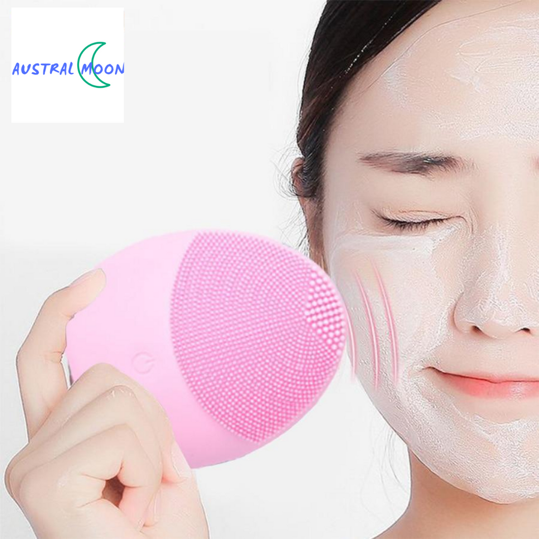 Silicone Face Cleansing Brush Electric Face Cleanser Electric Facial Cleanser Cleansing Skin Deep Washing Massage Brush