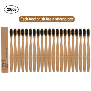 PACK OF 20 BAMBOO TOOTHBRUSHES, WITH CARBON BRISTLES, TOTALLY ECOLOGICAL